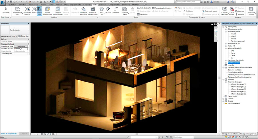 imagen de revit para lighting design