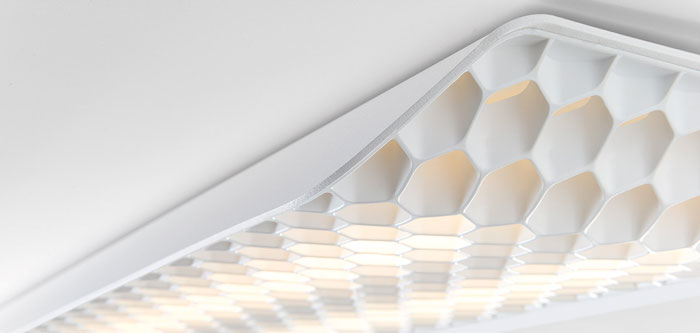 modular lighting interior vaeder en blanco